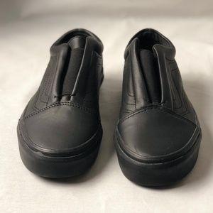35522cc2609 Vans Shoes - Vans Old Skool Laceless Leather Black Classic.